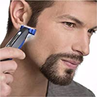 FIgment All In One Smart Rechargeable Face or Body Razor Beard Trimmer with Built-In Light for Men Trims, Edges and Shaves with 3 Trimming Combs (Black)