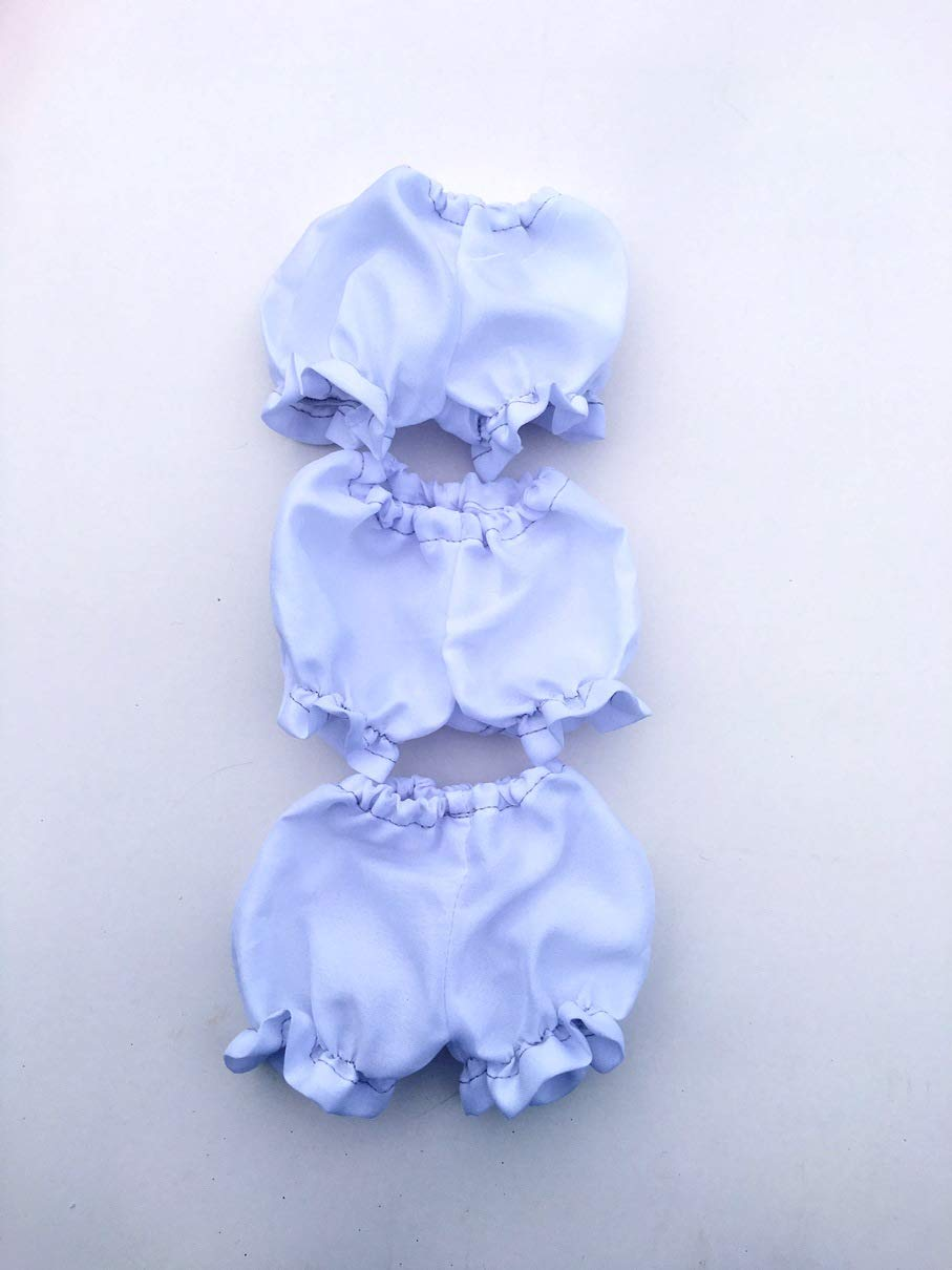Fits 12 Paola Reina Doll or 13 Corolle Les Cheries Doll Clothes White Panties Bloomers Underwear Lot of 3 pcs Handmade