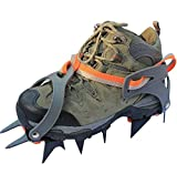 TTYY Ice Claws Crampons Non-slip Shoes Cover Stainless Steel Outdoor Ski Hiking Ice Climbing