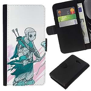 YiPhone /// Tirón de la caja Cartera de cuero con ranuras para tarjetas - Airbend3R - Sony Xperia M2