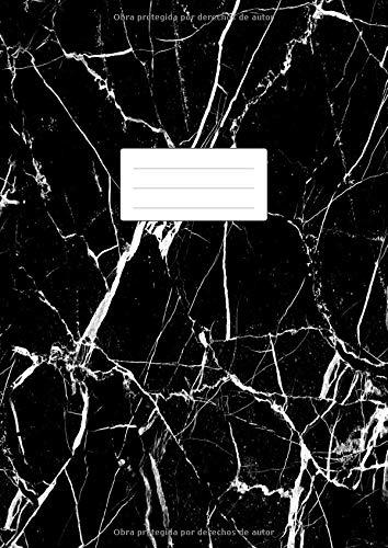 Cuaderno Punteado A4: Libreta De Puntos Para Bullet Journaling, Lettering, Art Notes | Dot Grid Journal | 100 Páginas Con Cuadrícula De Punto | Tapa Blanda | Mármol Negro