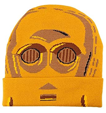 5b9b29c2cd5 Bonnet Star Wars VIII - C3PO Head  Amazon.fr  Vêtements et accessoires