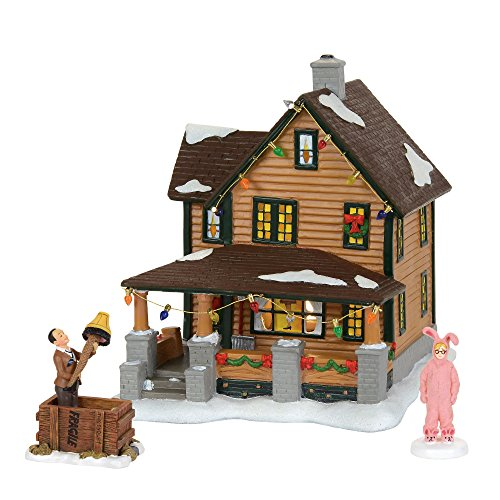 Department 56 A Christmas Story Village Ralphie's House Holiday Gift Set Village Lit House, 8 inch height (Christmas Collectibles Village)