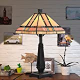 Cloud Mountain Tiffany Style Egyptian Table Lamp Home Decor Lighting Mission Design Desk Lamp with 14