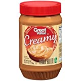 Great Value Creamy Peanut Butter, 40 oz (PACK OF 3)