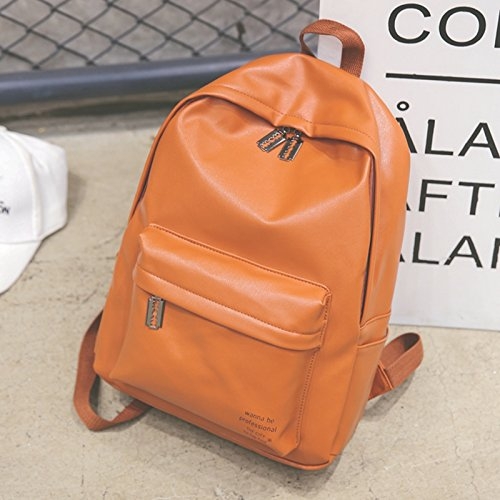 KPHY-Escuela De Bolsa De Aire Corteza De La Hembra Los Estudiantes Coreanos Harajuku Backpack Retro Korean MalePink brown