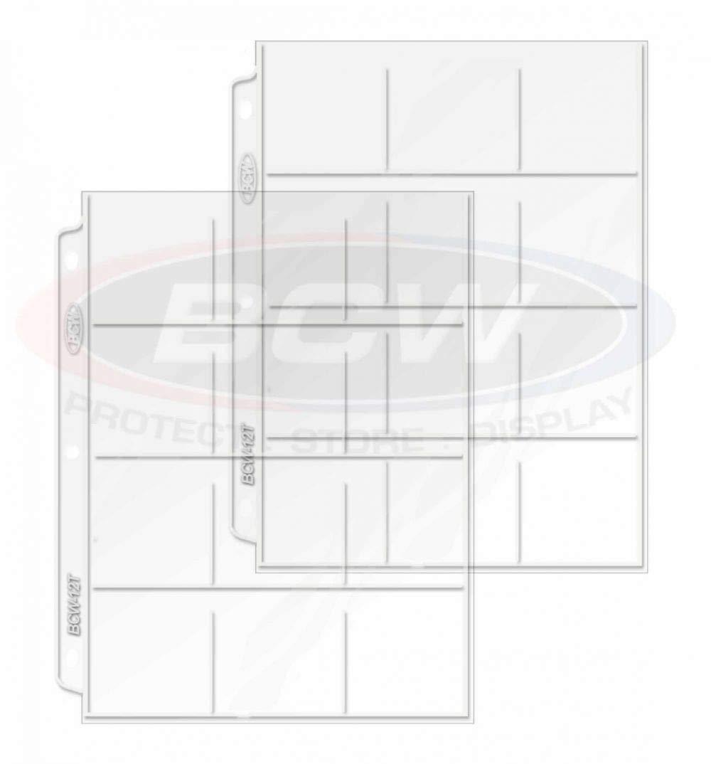 12 Pocket Display /& Storage Vinyl Pages 20 Page Pack