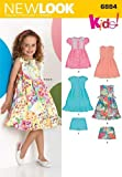 New Look Sewing Pattern 6884 Child Dresses, Size A (3-4-5-6-7-8)