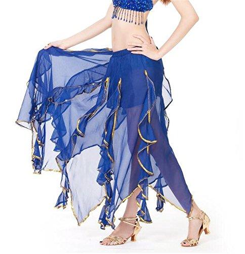 ZYZF Belly Dance Chiffon Lotus Leaf Skirt, Bollywood Arabic Dance Costume (Arabic Costume Kids)