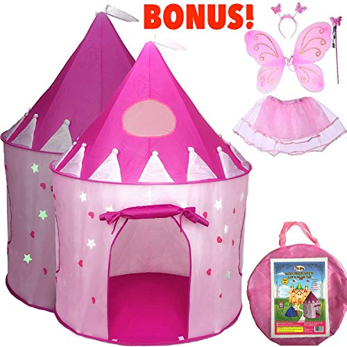 Air Fairy Costumes - 5-Piece Princess Castle Girls Play Tent