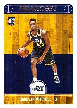 2017 18 Panini Nba Hoops Basketball 263 Donovan Mitchell Rookie Card