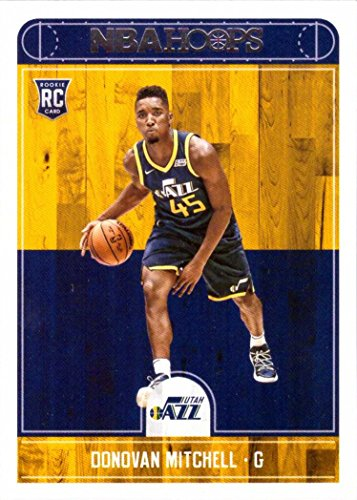 2017-18 Panini NBA Hoops Basketball #263 Donovan Mitchell Rookie Card