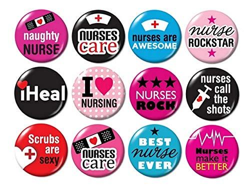 (Nurse Flatback (no pins) Buttons (set #3))