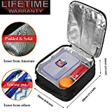 Lunch Bag Amersun Water Resistant Insulated Oxford Lunch Box with Firm FoilThermal Cooler