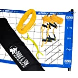 Park & Sun Sports Portable Outdoor Youth Volleyball Net System: Official USYVL with Adjustable Height Poles, Blue