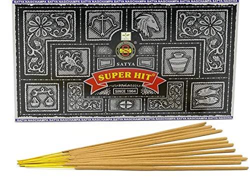 Satya Sai Baba Super Hit Nag Champa Incense Sticks 180 Gram Box (180g) - incensecentral.us