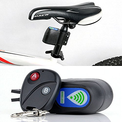 UltiSmart£¨TM) Bike Lock Security Wireless Sensor Remote Control Locks Vibration Siren Alarm Guard Anti-theft Bicycle Aceessories YC083-SZ
