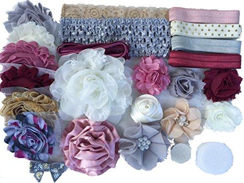 Bowtique Emilee Mini Headband Kit Makes 15 Headbands, DIY Baby Headband Kit -