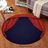 sophiehome Soft Carpet 71062693 Theater curtain Presentation Movies Anti-skid Carpet Round 24 inches