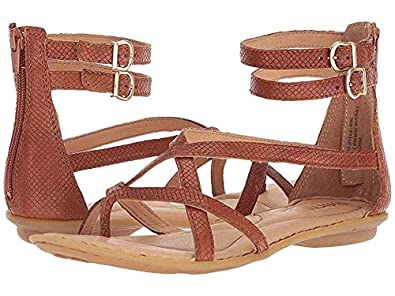 a5eaaa460604 Born Mai Gladiator Cognac Embossed Full Grain Leather Women s Sandals