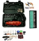 Tools Centre 175 Pcs Die Grinder Rotary Tool &Accessory Kit All In 1 With Free Diamond Coated Burr Set& 105Pcs Electric Polishing Bits Set Free Combo.