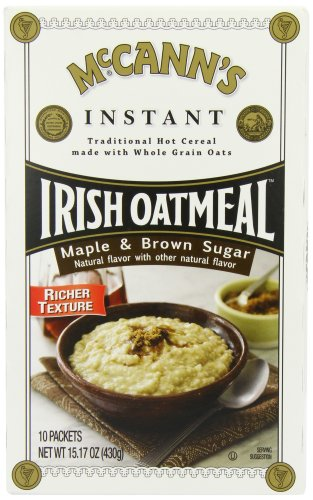 McCANN'S Instant Irish Oatmeal, Maple & Brown Sugar, 10-Count Boxes (Pack of 6)
