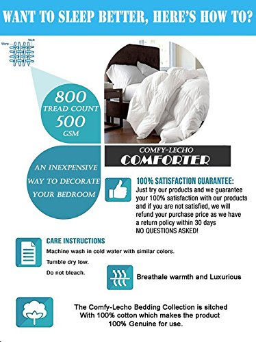 Luxurious and Premium Quality QUILTED Comforter 500 GSM GOTS Certified HEAVEN LIKE FEEL All-Season HYPOALLERGENIC Fluffy-Ultra-Soft-Lightweight,100% ORGANIC COTTON with Italian Finish(Queen-Sage) by Comfy-Lecho (Image #6)
