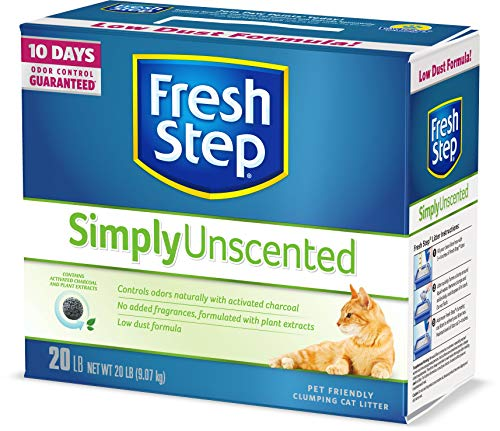 Fresh Step 10044600306817  Simply Unscented Litter, Clumping Cat Litter, 20 Pounds, 20 lb, Gray