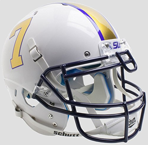 (Schutt NCAA LSU Tigers On-Field Authentic XP Football Helmet, Alt. 3)