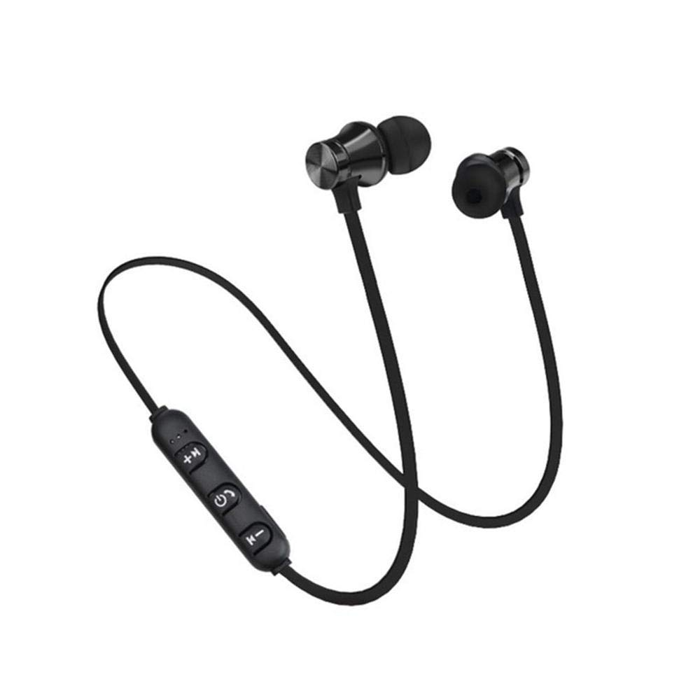Moshbu X11 Sport Magnetic Headphones, Waterproof Magnetic Over Ear Headphones Upgrade V4.2 Wireless Bluetooth Headset Sweatproof Sport Neckband Earphones for Running Cycling Gym Travelling