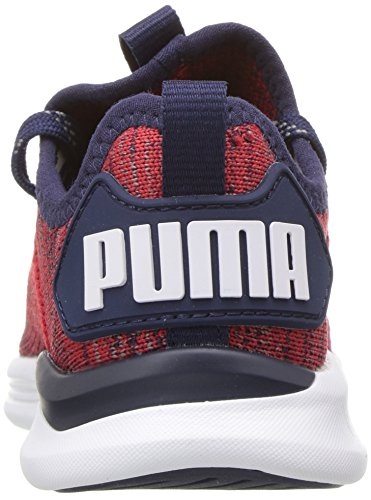 PUMA Unisex-Kids Ignite Flash Evoknit Sneaker, Ribbon Red-Peacoat White, 10.5 M US Little Kid by PUMA (Image #2)