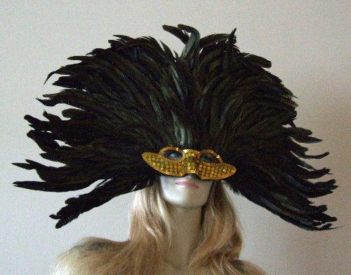 Vegas Girl Gold Venetian Mask Mardi Masquerade Halloween Costume -
