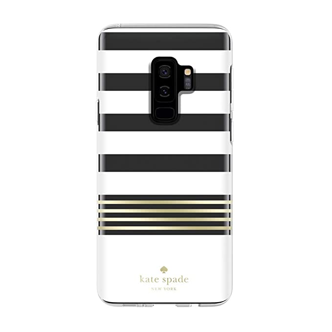 new product 7cd07 0f642 Kate Spade New York Phone Case | For Samsung Galaxy S9 Plus | Protective  Clear Crystal Phone Cases with Slim Design and Drop Protection - Stripe 2  ...