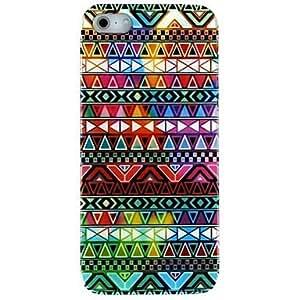 MOFY- Patr-n de colores Tri‡ngulos Volver Funda para el iPhone 5/5S