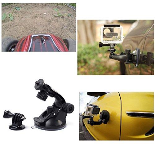 TEKCAM Action Camera Accessories Kits Bundle Compatible for Gopro Hero 7 6/AKASO EK7000/APEMAN/Campark/DBPOWER/Crosstour 4k Waterproof Camera Car Suction Cup Mount Floating Handle Grip Selfie Stick