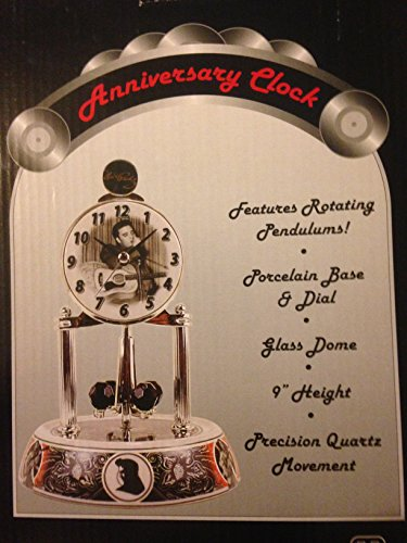 Anniversary Clock Elviz Presley - Elvis Presley Dome