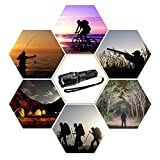 CrazyFire Zoomable LED Torch,1000 Lumen 5 Mode Portable Flashlight,Led Pocket Torch Lamp for Hiking Traveling Camping (White Beam) Bild 5