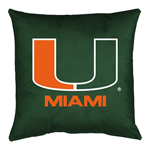 NCAA Miami Hurricanes Locker Room Pillow