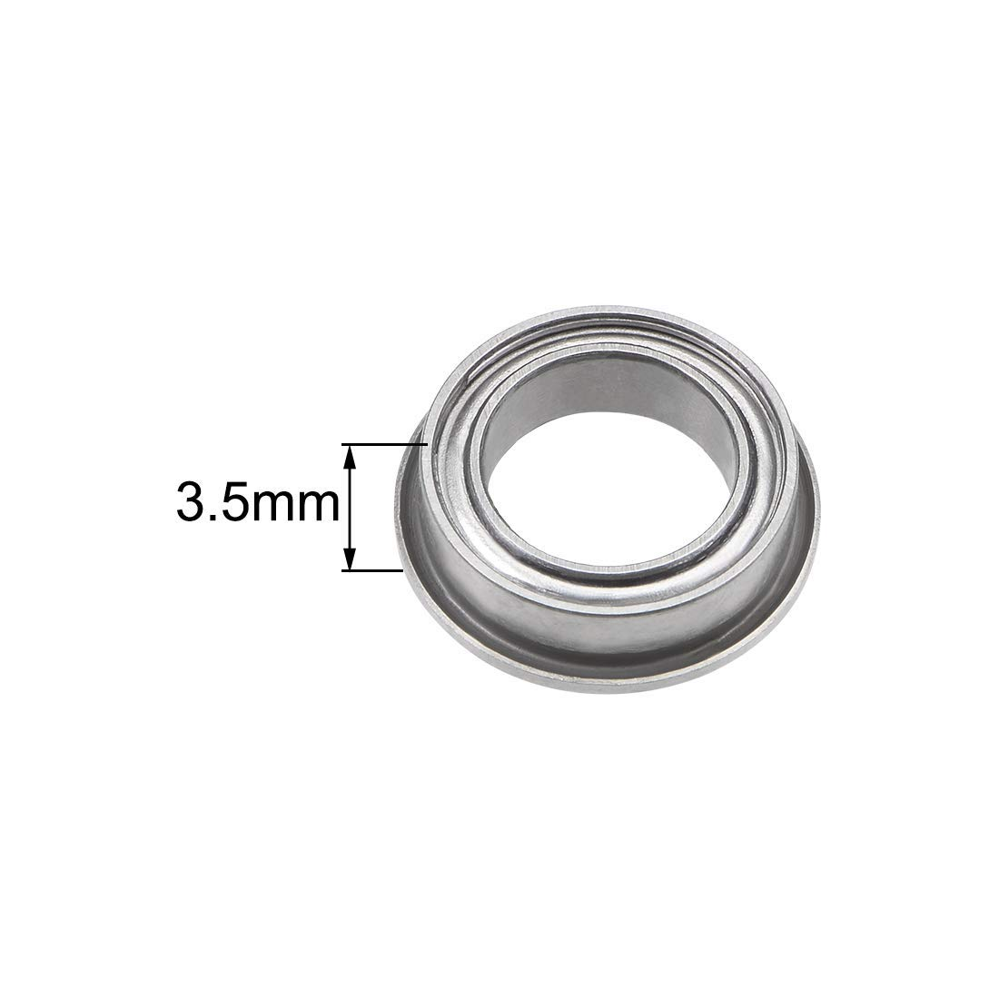 Ball Bearings with Flange MF128ZZ 8x12x3.5mm Shielded Chrome Bearings 2 Pieces