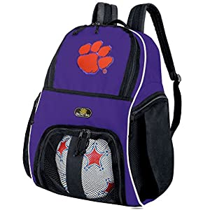 Clemson University Soccer Backpack or Volleyball Bag Purple