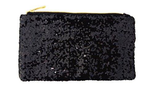 Sequins Handbag Women's Party Chezi Bag Purse Black Glitter Bag Small Evening HEdzdBwqn
