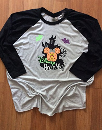 (Handmade Disney Halloween Raglan Shirt/Family Matching Shirts/Mickey's Not so Scary Halloween)