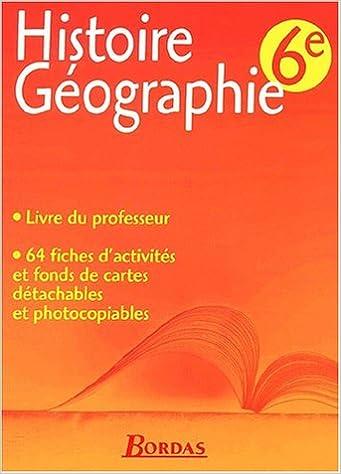En ligne téléchargement Histoire-géographie, 6e. Livre du professeur pdf epub