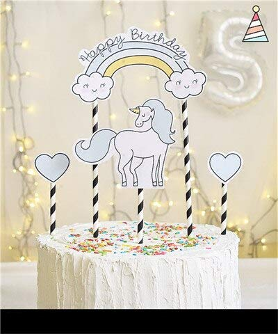 Supplies Party - 1set Rainbow Unicorn Clouds Heart Diamond Cake Per Baby Shower Birthday Party Decor Children Kids - Mexican Granja De Cardinals Patrol Mickey Decorations Miguel Winnie Arizona]()