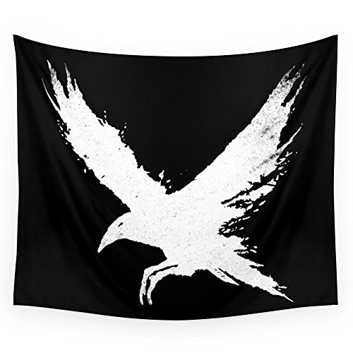 Society6 The Raven (Black Version) Wall Tapestry Large: 88