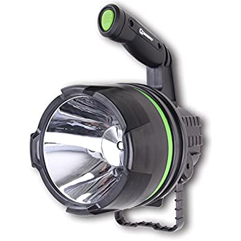 BIG LED BATTERY OPERATED RECHARGEABLE HAND SPOT LIGHT LAMP SPOTLIGHT FLASHLIGHT
