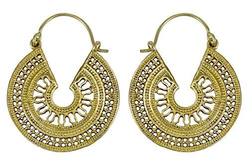 Banithani Vintage Look Indian Tribal Dangle Hoop Earring Set Indian Ethnic Jewelry from Banithani