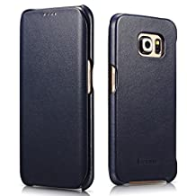 Galaxy S6 Edge Plus Case, Benuo™ [Vintage Series] - Handcrafted 100% Genuine Leather Case (Navy, Luxury)