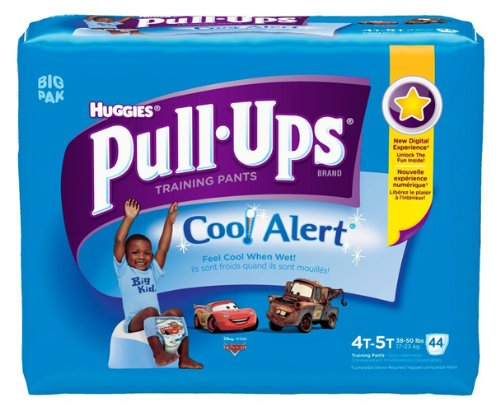 Huggies Pull-Ups Training Pants with Cool Alert, Boys, 4T-5T, 44 Count