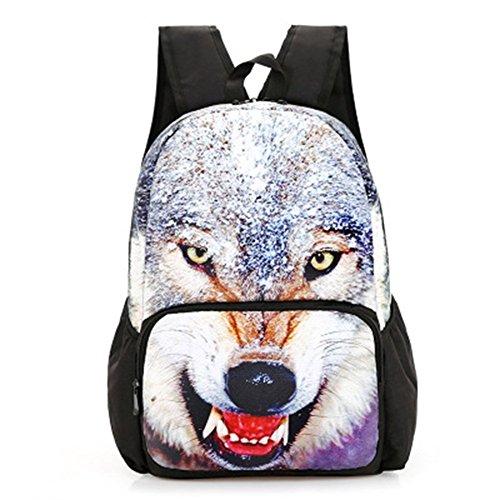 St.Roma - Bolso mochila  de Lona para mujer Talla única lobo